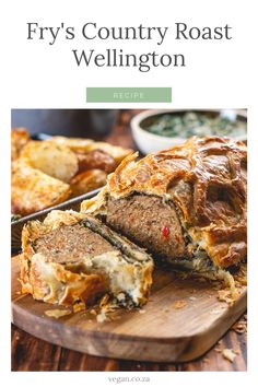 """A wonderful idea for a vegan Christmas, complete with all the """"traditional"""" sides and trimmings Fry S, Wellington Food, How To Become Vegan, Roasting Tins, Stuffed Mushrooms, Stuffed Peppers, Chilli Flakes, Vegan Christmas, Coriander Seeds"""