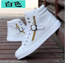 Novos sapatos dos homens de couro moda Sapato casual High Top Calçados Tênis