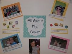 All about me poster to introduce yourself to your students on the first day, decorate side of desk like this for students to get to know you Preschool Projects, Preschool Themes, Teaching Strategies, Teaching Ideas, All About Me Poster, Classroom Routines, Classroom Ideas, Visible Thinking, Kindergarten Language Arts
