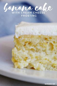 If you are looking for a Banana Cake with PURE banana flavor, this is the cake for you! This Banana Cake with Cream Cheese Frosting you will ever need for dessert! You can remove the frosting and eat it for breakfast! Best Cake Recipes, Banana Recipes, Cupcake Recipes, Cupcake Cakes, Dessert Recipes, Cupcakes, Easy Desserts, Delicious Desserts, Banana Bread Cake