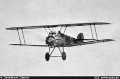 """Sopwith Camel operated by the Aviation Militaire Belge N° 3 Squadron based at """"De Moeren"""" airfield in 1918"""