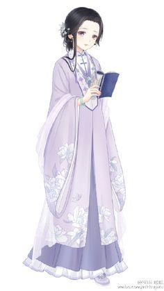 She looks sooo sad Asian Fashion, Fashion Art, Fashion Design, Manga Girl, Anime Art Girl, Kleidung Design, Anime Dress, Estilo Anime, Fantasy Dress