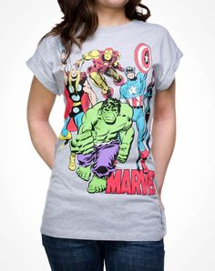 Party points to ME! I just found the Marvel Groupshot Tee from Spencer's. Visit their mobile website to get this item and more like it.