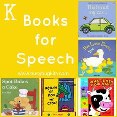 A fantastic list of books with 'k' sounds you can target.