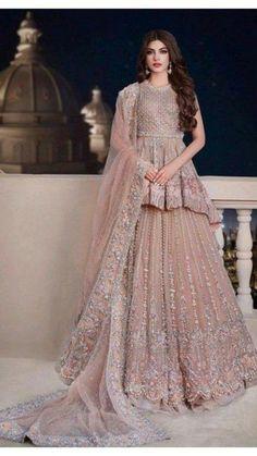 Asian Bridal Dresses, Party Wear Indian Dresses, Pakistani Fashion Party Wear, Designer Party Wear Dresses, Indian Gowns Dresses, Indian Bridal Outfits, Indian Fashion Dresses, Asian Party Wear, Shadi Dresses