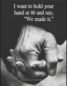 Growing old together is the fairytale.....