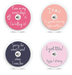 "Set of 4 ""Quotes"" Freestyle Libre Sensor Stickers by on Etsy Type One Diabetes, New Sticker, Diabetes Management, Eating Well, Type 1, Stickers, Day, Quotes, How To Make"