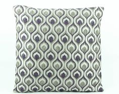 Decorative throw pillow cover 18x18 sham, Purple Silk Pillow cover, Silver Accent Pillow, Textured Silk pillow