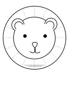 Color lion, cut out lion, and then cut around mane on dotted lines. Color lion, cut out lion, and then cut around mane on dotted lines. Cutting Activities, Motor Activities, Craft Activities For Kids, Infant Activities, Preschool Activities, Dementia Activities, Physical Activities, Letter L Crafts, Lion Facts