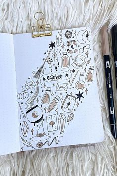 72 Coolest Bujo Cover Pages Ideas for October