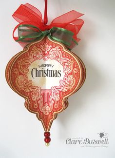 Clare's creations - Waltzingmouse Stamps Ornate Ornaments - Spellbinders 2010 Heirloom Ornaments