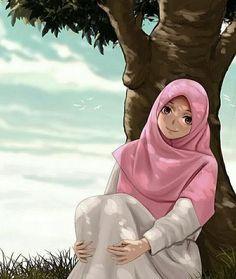No photo description available Cute Muslim Couples, Muslim Girls, Muslim Women, Girl Cartoon, Cartoon Art, Hijab Drawing, Islamic Cartoon, Hijab Cartoon, Islamic Girl