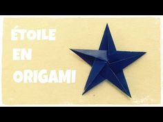 Origami facile - Étoile à cinq branches - YouTube