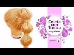 Peinados para niñas con Cabello Largo - Coletas con Volumen