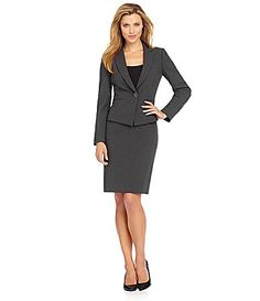 56a6b855398 Tahari by ASL Pinstripe Skirt Suit  Dillards