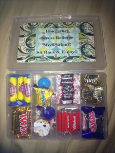 Bosses Day survival kit!:) candy kit box