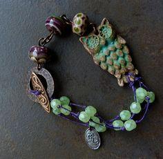 """Wise Old Bird"" bracelet | LoreleiEurtoJewelry"