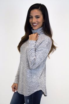 Light Grey Turtle Neck Sweater