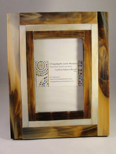 Mosaic Stained Glass Picture Frame Brown by chapelgatelanemosaic, $25.00