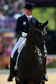 Mikaela Lindh of Finland riding Mas Guapo competes in the Individual Dressage Grand Prix on Day 6 of the London 2012 Olympic Games at Greenwich Park on August 2, 2012 in London, England.  www.thewarmbloodhorse.com