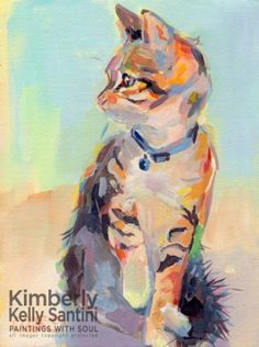 Boo, painting by artist Kimberly Kelly Santini
