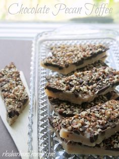 Chocolate Pecan Toffee - oh my. @Kimberly Henricks-Friedhoff