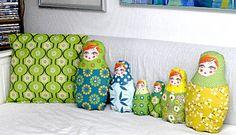 Coussins poupées russes - Russian Dolls Pillows