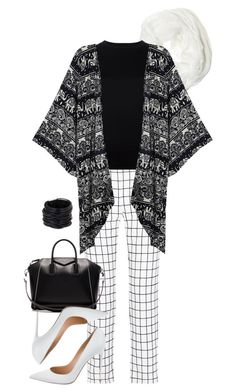 """boho monochrome style"" by wilypr on Polyvore featuring Tomas Maier, Givenchy, Betsey Johnson, R13, Gianvito Rossi and Saachi"