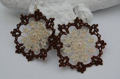 Crochet+earring+jewelry++Large+crochet+earring++by+lindapaula,+€12.00