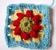 JuliaCrossland: Popcorn Flower Granny Squares Tutorial