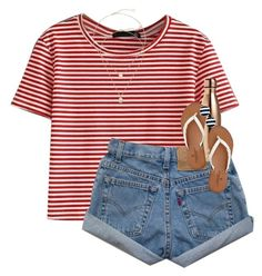 """""""Happy fourth!! //Erin Leigh"""" by southern-preps1 ❤ liked on Polyvore featuring WithChic, Kendra Scott, S'well, American Eagle Outfitters and Kate Spade"""