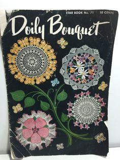 American Thread Company Doily Bouquet Star Book No. 71 Crochet