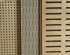 WoodTrends Wooden Acoustic Panel is a genuine wooden acoustic wall panel. The grooves in the wood facing allows the panel to achieve high NRC values.
