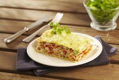 Lasagne de thon et tomate à la mozzarella
