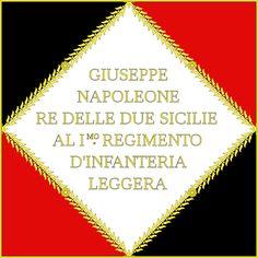 Bandiera di guerra del 1 reggimento di fanteria leggera del Regno di Napoli