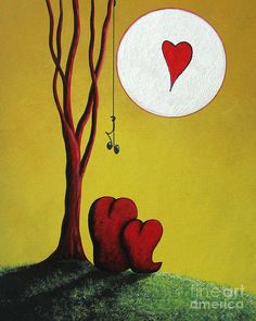 I Heart You By Shawna Erback Painting