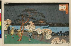 Sumida-gawa ame-chu no hanaTitle (series)Edo Meisho no uchi : Utagawa Hiroshige (歌川広重) 1840-1847 (circa)