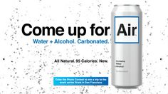 Carbonated alcohol that tastes like water?
