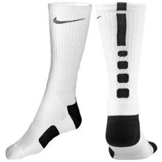 Nike Elite Basketball Crew Sock - Men's - Basketball - Accessories - White/Black