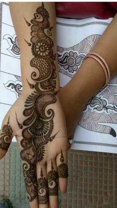 Mehndi Designs Front Hand, Simple Arabic Mehndi Designs, Henna Art Designs, Stylish Mehndi Designs, Mehndi Designs For Beginners, Mehndi Designs For Girls, Mehndi Design Photos, Wedding Mehndi Designs, Mehndi Designs For Fingers
