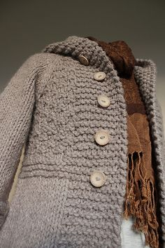 Ravelry: Project Gallery for 109-8 Knitted jacket in �Eskimo� pattern by DROPS design.