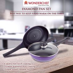 Women search for a strong and long-lasting relationship, this is exactly what the Wonderchef Diamond Pan Set offers! Buy now at www.wonderchef.in #WonderchefStudio