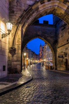 Prague, Charles Bridge, Lesser Tower by Dale Johnson - Photo 209728583 / Beautiful Streets, Beautiful Places, Visit Prague, Rainy Morning, Night Vibes, City Sky, Prague Travel, Prague Czech Republic, Lanterns