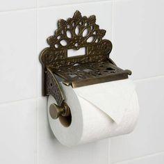 Signature Hardware Dering Solid Brass Toilet Paper Holder for sale online Brass Toilet Paper Holder, Toilet Roll Holder, Victorian Toilet, Victorian Door, Victorian Design, Victorian Homes, Ideas Dormitorios, Toilet Accessories, Bathroom Fixtures
