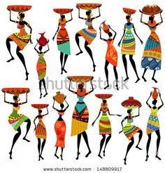 african woman silhouette | Stock Photos, Illustrations, and Vector Art similar to Image ID ...