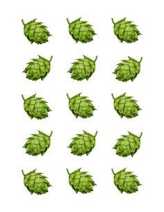 hops print