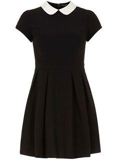 missguided robe droite col claudine shayne noir et blanc mode pinterest monochrome. Black Bedroom Furniture Sets. Home Design Ideas