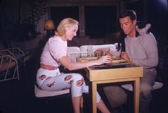 Patsy Pulitzer and her brother Peter Pulitzer, 1955. Photo by Slim Aarons