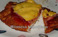 Una receta sencilla y con muchísimo sabor . La milanesa napolitana tradicionalmente se prepara con carne de vacuno pero, en este caso, se ha preparado  con una pechuga de pollo y tengo que decirles que el resultado es sensacional.