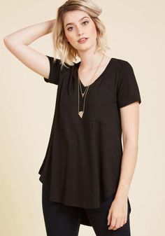 #AdoreWe #ModCloth ModCloth Yours Chill the End Top in Noir - AdoreWe.com